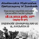Akademickie Mistrzostwa w Szachach2012
