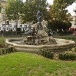 Fontanna przed Uniwersytetem Komeńskiego