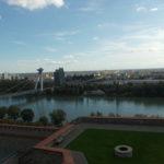 Widok z Zamku na dzielnicę Petrżalkę