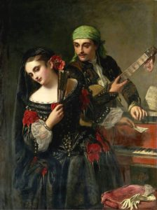 John Phillip, A music lesson, XIX c.