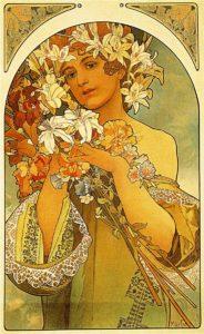 Alphonse Mucha, Flower, 1897
