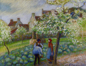 Camille Pissarro, Flowering plum trees, 1890
