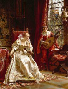 Charles Joseph Frederic Soulacroix, The Serenade,, XIX c.