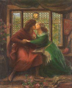 Dante Gabriel Rossetti, Paolo and Francesca da Rimini, 1867