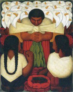 Diego Rivera, Flower festival, 1925