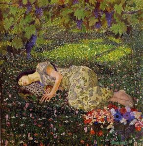 Felice Casorati, Dream of the Pomegranate, 1912-1913