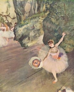 Edgar Degas, Dancer with a bouquet of flowers (The star of the ballet), 1878