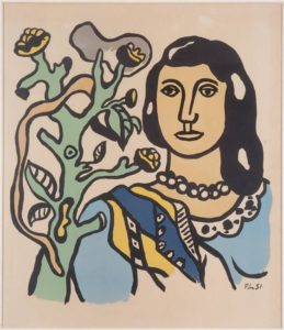Fernand Leger, The woman and the flower, 1954