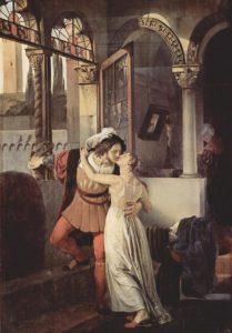 Francesco Hayez, The last kiss of Romeo and Juliet, 1823