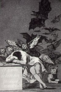 Francisco Goya, The Sleep of Reason Produces Monsters, 1797