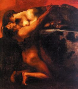 Franz Stuck, The kiss of the sphinx, 1895