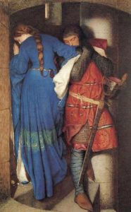 Frederic William Burton's, The Meeting on the Turret Stairs,1864