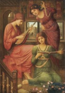 John Melhuish Strudwick, In the Golden Days, 1907