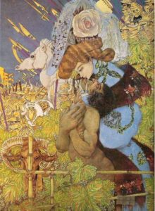 Gustav Adolf Mossa, El beso de Elena, 1904