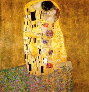 Gustav Klimt, The kiss, 1907-1908