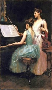 Irving RamseyWiles, The Sonata, 1889