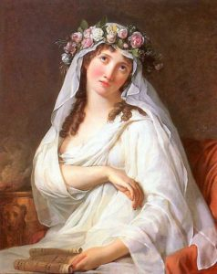 Jacques-Louis David, A Vestal Virgin crowned with flowers, 1783