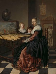 Jan Miense Molenaer, Interior with a Lady at the Virginals, 1630–1640
