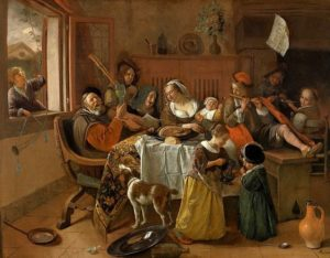 Jan Steen, The Jolly Family, 1668