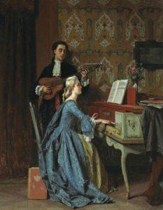 Jean Carolus, The duet, 1860–1869