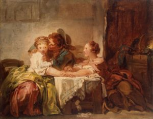 Jean-Honore Fragonard, The prize of a kiss, 1760