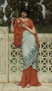 John William Godward, He loves me, he loves me not, 1896