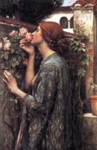 John William Waterhous, The soul of the rose, 1908