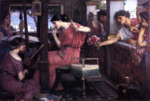 John William Waterhouse, Penelope and the suitors, 1912