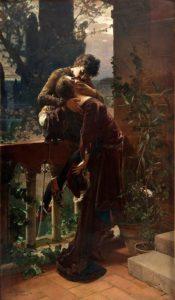 Julius Kronberg, Romeo and Juliet on the balcony, 1886