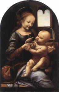 Leonardo da Vinci, Madonna with a flower (Madonna benois), 1478