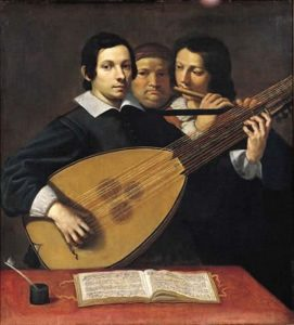Ludovico Lana, Portrait of the liutist Girolamo Valeriani, 1630