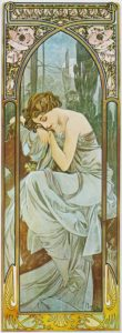 Alfons Mucha, The Times of the Day Nights Rest, 1899