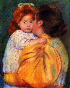 Mary Cassatt, Maternal kiss, 1896