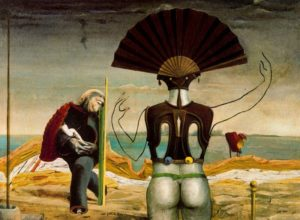 Max Ernst, Woman, Old Man and Flower Femme, 1923