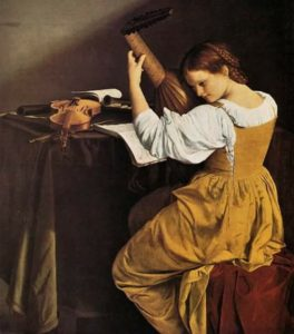 Orazio Gentileschi, Tañedora de laúd, 1626