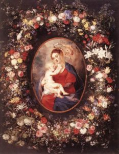 Peter Paul Rubens, The Virgin and Child in a garland of flower, 1621