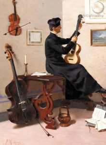 Pompeo Massani, Tuning the Guitar, 1877