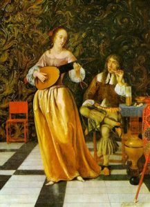 Eglon Hendrik van de Neer, Young Woman Playing the Lute, XVII c.