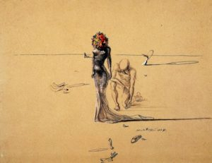 Salvador Dali, Woman with flower head, 1937