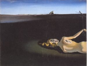 Salvador Dali, Woman sleeping in a landscape, 1931