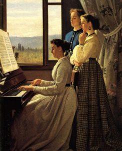 Silvestro Lega, Il canto dello stornello, 1867