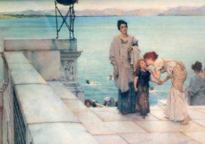 Sir Lawrence Alma-Tadema, A kiss, 1891