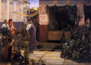 Sir Lawrence Alma-Tadema, The flower market, 1868