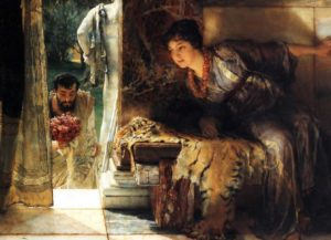 Sir Lawrence Alma-Tadema, Welcome footsteps, 1883