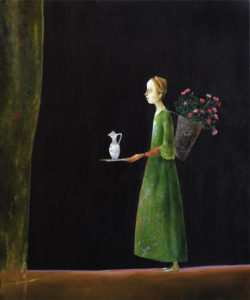 Stefan Caltia, Girl with flowers, 2005