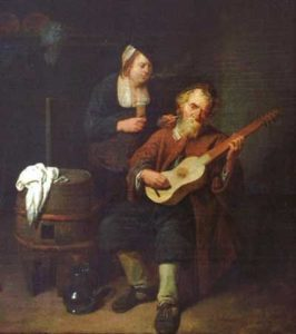 David Ryckaert III, The guitar player, 1641