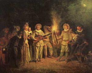 Jean Antoine Watteau, The italian comedy, 1714
