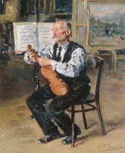 Vladimir Makovski, Violin Maker, 1914