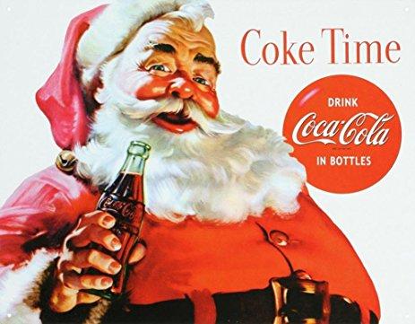 Święty Mikołaj reklamujący Coca-Colę
