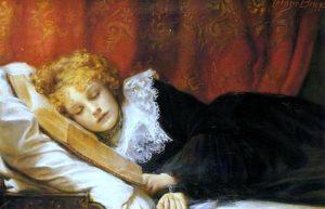 Emma Irlam Briggs, A book at bedtime, XIX c.